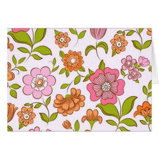 Cartão COM flores do padrão