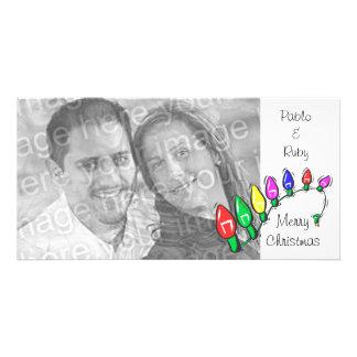 Cartão com fotos customizável das luzes do Feliz N Cartão Com Foto