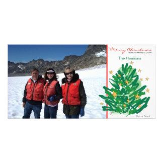 Cartão com fotos da árvore de Natal Cartão Com Foto