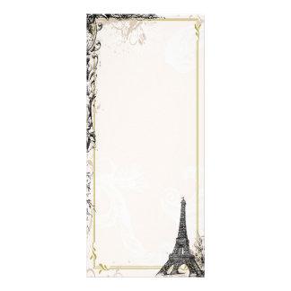 Cartão com fotos da torre Eiffel Modelo De Panfleto Informativo