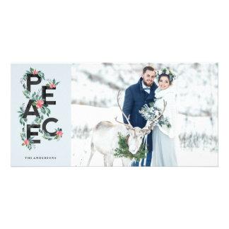 Cartão com fotos das bagas do feriado