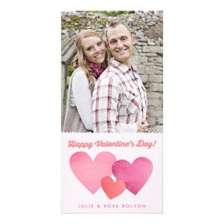 Cartão com fotos de papel do dia dos namorados dos