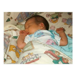 Cartão com fotos do anúncio do nascimento do