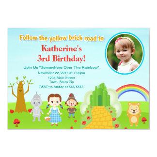 Cartão com fotos do convite 5x7 do aniversário de