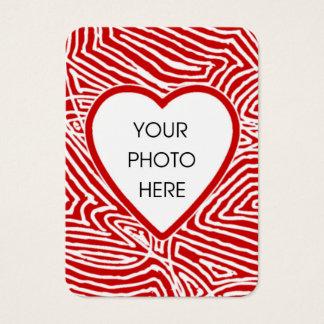 Cartão com fotos do coração de Scribbleprint