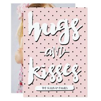Cartão com fotos do dia dos namorados dos abraços convite 12.7 x 17.78cm