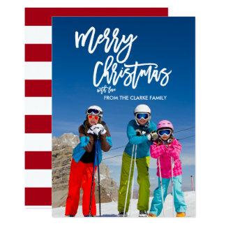 Cartão com fotos do feriado do Feliz Natal | do Convite 12.7 X 17.78cm