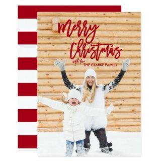 Cartão com fotos do feriado do Feliz Natal do Convite 12.7 X 17.78cm