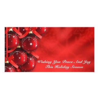 Cartão com fotos do feriado do Natal Cartão Com Foto