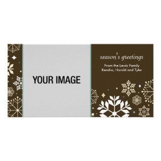 Cartão com fotos do feriado do ouropel cartão com foto