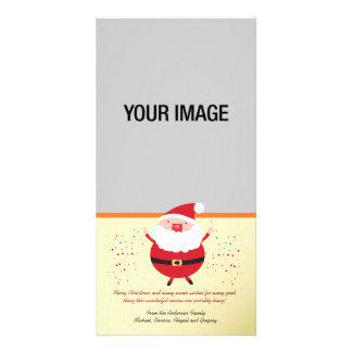 Cartão com fotos do feriado do papai noel