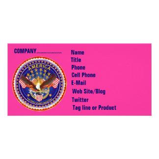 Cartão com fotos do negócio de SOA horizontal Vej