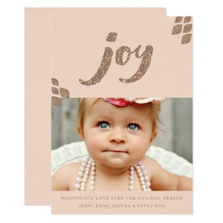 Cartão com fotos do Xmas da alegria do brilho do Convite 12.7 X 17.78cm