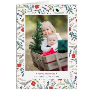 Cartão Cartão com fotos dobrado   alegre do feriado da