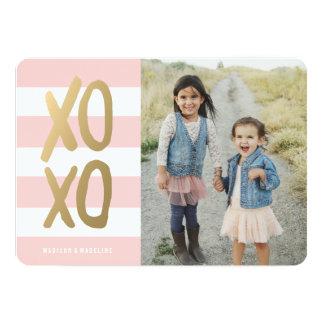 Cartão com fotos doce & do chique | do dia dos convite 12.7 x 17.78cm