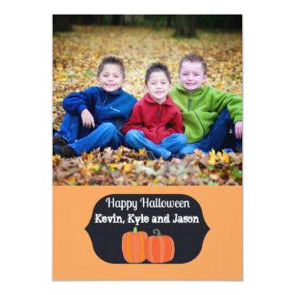 Cartão com fotos feliz do Dia das Bruxas das Convite 12.7 X 17.78cm