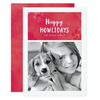 Cartão com fotos feliz do feriado de Howlidays