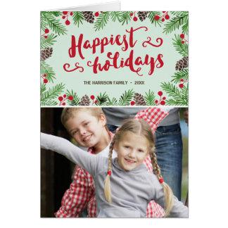 Cartão com fotos festivo do feriado da caligrafia