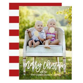 Cartão com fotos indicado por letras do feriado do convite 12.7 x 17.78cm