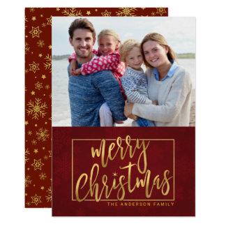 Cartão com fotos liso Mão-Indicado por letras do Convite 12.7 X 17.78cm