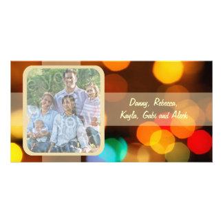 Cartão com fotos obscuro colorido do feriado das l cartão com foto