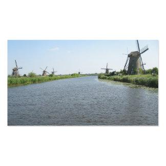 Cartão com fotos pequeno dos moinhos de vento do cartão de visita
