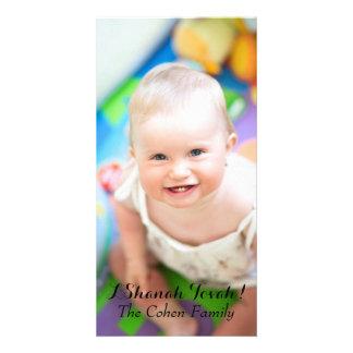 Cartão com fotos simples de Rosh Hashanah