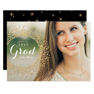 Cartão com fotos Sparkling do formando Convite 12.7 X 17.78cm