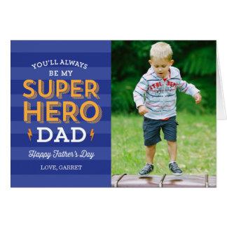 Cartão Cartão com fotos super do dia dos pais do pai