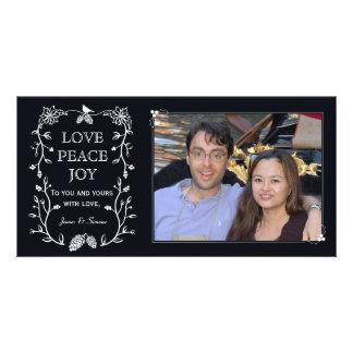Cartão com fotos verde do feriado do Natal Cartão Com Foto