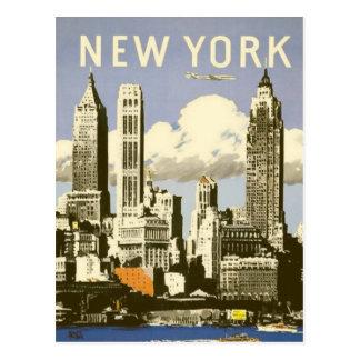 Cartão com impressão legal de New York do vintage