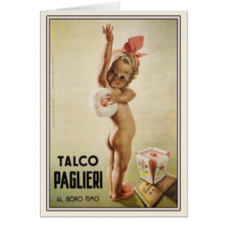 Cartão com o bebê bonito no poster do anúncio do