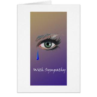 Cartão Com o olho da gota do rasgo da simpatia