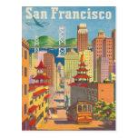 Cartão com o poster de San Francisco do vintage Cartões Postais