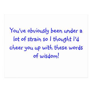 cartão com palavras da sabedoria