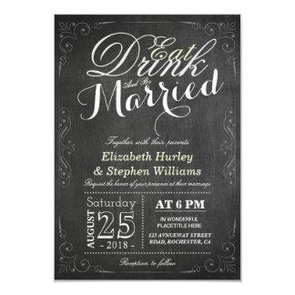 Cartão COMA a bebida e seja casamento casado da beira do