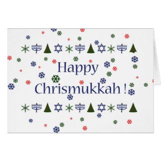 Cartão Cartão combinado de Hanukkah do Natal