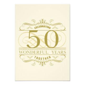 Cartão Comemorando o 50th aniversário