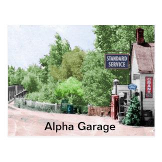 Cartão comemorativo da garagem alfa
