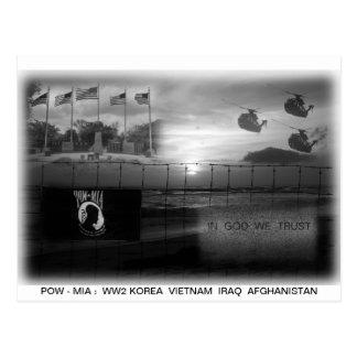 Cartão comemorativo de MIA do PRISIONEIRO DE GUERR Cartões Postais