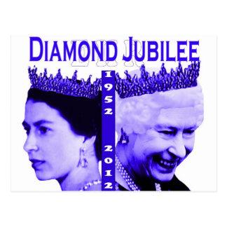 Cartão comemorativo do jubileu de diamante cartoes postais