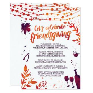 Cartão Comensal da acção de graças de Friendsgiving