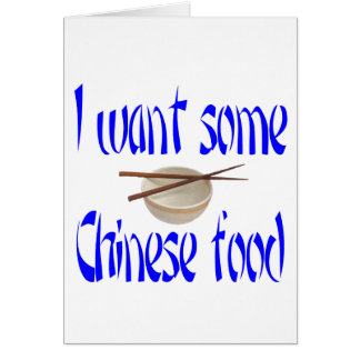 Cartão comida chinesa