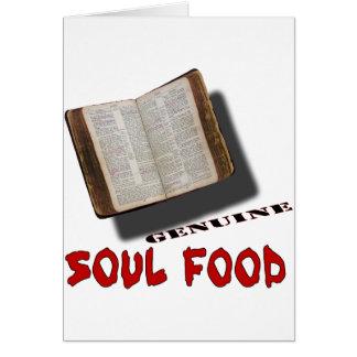 Cartão Comida da alma