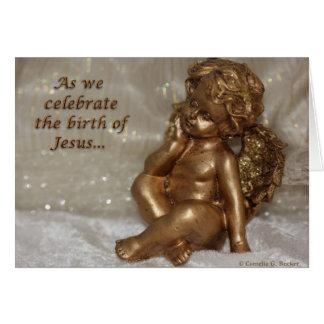 Cartão Como nós comemoramos o nascimento de Jesus…