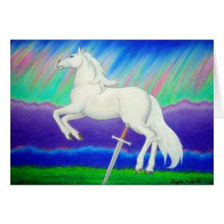 Cartão Companheiro da aurora boreal (cavalo)