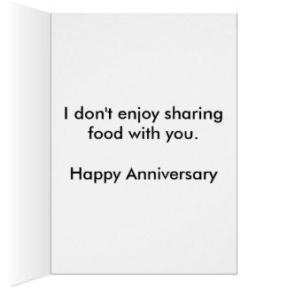 Cartão Compartilhando do aniversário da comida
