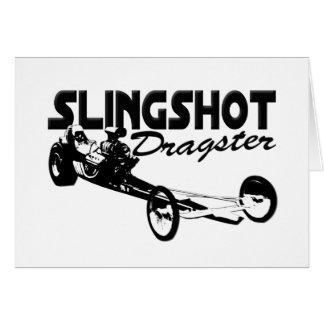 Cartão competência do arrasto do vintage do dragster do