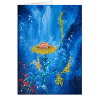 Cartão Composição abstrata das flores coloridas exóticas