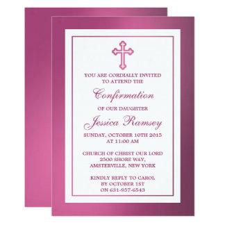 Cartão Comunhão santamente ou confirmação transversal